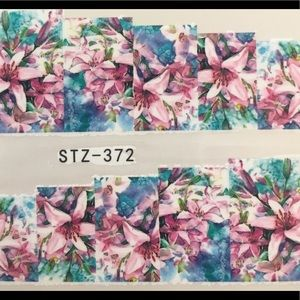 Other - NWT Nail Art Waterslide Tattoos in Stargazer Lily